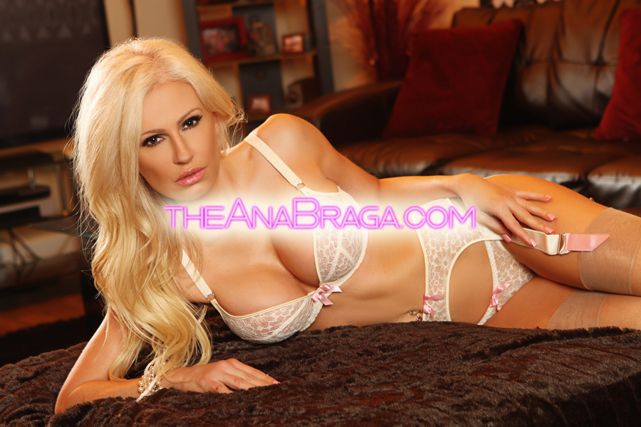 ANA WHITE LINGERIE LAYING CLOTHED AUTOGRAPHED PHOTO 8x10